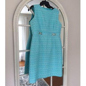 Chelsea Rose Dress Aqua Sz 14